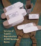 Reproduction ACME Bandage Boxes 1.5 x1.5 x 3