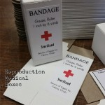 Bandage, White, Red Cross, Small
