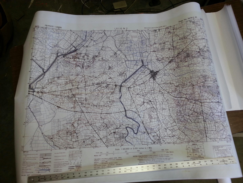 Maps, Large Color Battle Maps- D-Day