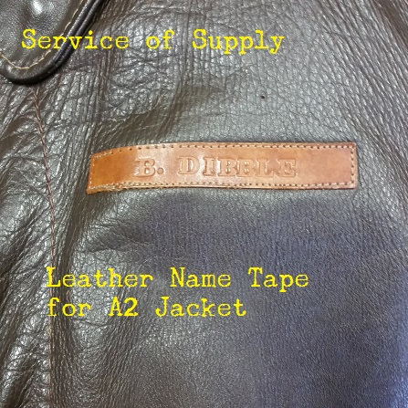Leather Name Tag For Leather Wwii Jackets Service Of Supply