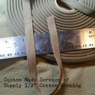 OD 7 US Military Webbing – 2-3/4″ wide – SERVICE OF SUPPLY